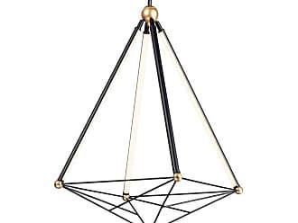 ET2 E20594 Spire 4 Light 27 Wide LED Abstract Pendant Black / Gold