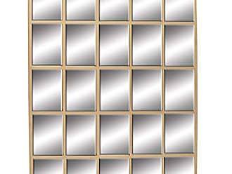 Deco 79 53368 Metal Wall Mirror, 56 x 44, Gold