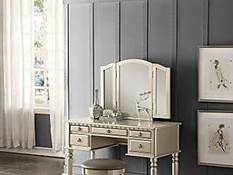 Benzara BM167180 Vanity Set, Silver