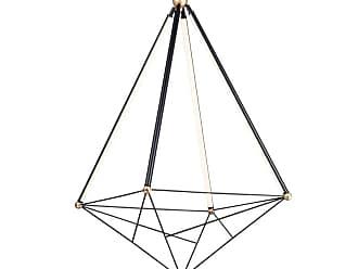 ET2 E20596 Spire 4 Light 35 Wide LED Abstract Chandelier Black / Gold
