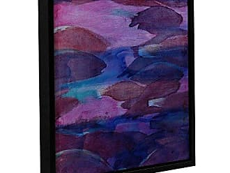 ArtWall Charlotte Johnstones Purple Parrots VI, 2000, Gallery Wrapped Floater-Framed Canvas, 14 x 14