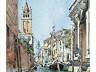 Buyartforless Rio Di San Barnaba, Venice by Edward Darley Boit 28x20 Art Print Poster Famous Painting