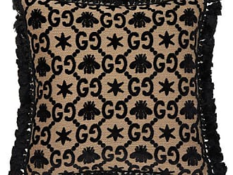 Gucci Gg Jacquard Velvet Cushion - Black Multi