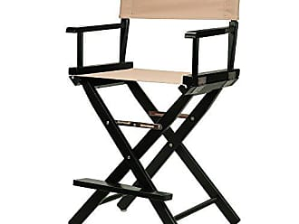 Yu Shan Casual Home 24 Directors Chair Black Frame-with Tan Canvas, Counter Height