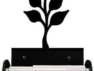 Village Wrought Iron 8.5 Inch Leaf Toilet Tissue Holder