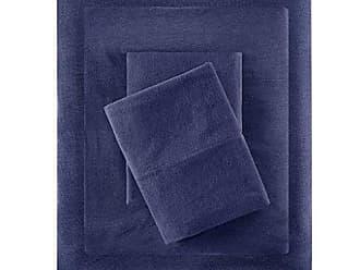 INTELLIGENT DESIGN ID20-699 Cotton Blend Jersey Knit Sheet Set Twin Navy
