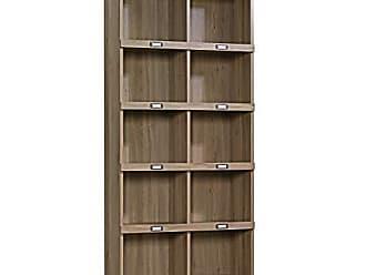 Sauder Sauder 414108 Barrister Lane Bookcase, L: 35.55 x W: 13.50 x H: 75.04, Salt Oak finish