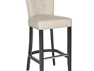 Safavieh Hudson Collection Addo Ring Biscuit Beige and Espresso 29.7-inch Bar Stool