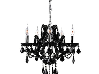 Worldwide Lighting W8311619 Lyre 5 Light 19 Wide Crystal Chandelier
