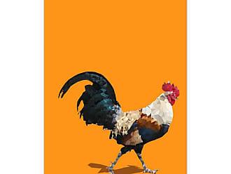 Ptm Images Fractal Rooster Framed Canvas Wall Art - 9-110852