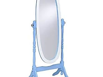 Ore International ORE International N4001-BLU/WH Oval Cheval Standing Mirror, Blue/White