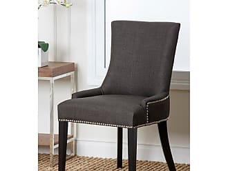 Abbyson Jackson Fabric Nailhead Trim Dining Chair - Gray Ivory - HS-DC-217-IVY