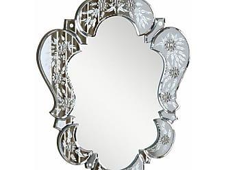 Elegant Furniture & Lighting Venetian Floor Wall Mirror - 20.7W x 25.6H in. - MR-2011C