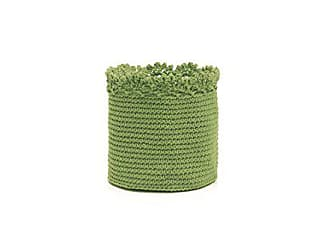 Heritage Lace Mode Crochet Basket with Trim, 6 by 6-Inch, Sage