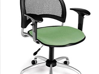 OFM 336-AA3-2207 Moon Swivel Chair with Arms, Sage Green