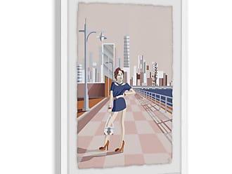 Marmont Hill Urban Fashion Giclee Print Framed Wall Art, Womens - MH-JULUFA-72-WFPFL-18