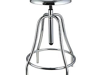 GDF Studio Christopher Knight Home 296878 Vincent Iron Swivel Barstool, 17.50D x 17.50W x 32.50H, Chrome