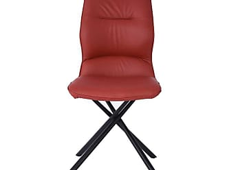 Whiteline Marlon Solid Back Dining Side Chair - Set of 2 Burgundy - DC1633P-BUR