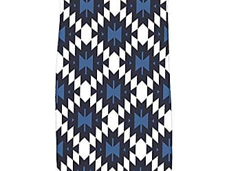 E by Design KTGN529BL14BL40 Jodhpur Kilim Geometric Print Kitchen Towel, 16 x 25, Navy Blue