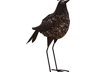 Oakland Living Hammer Tone Bird Garden Statue with Solar Light and Ground Stake - 650256-BIRD-4-HB
