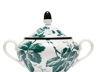 Gucci Herbarium Porcelain Sugar Bowl - Womens - Green Multi