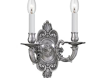 Crystorama 642-PW Traditional Antique Pewter Wall Sconce