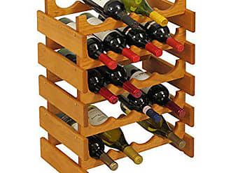 Wooden Mallet 20 Bottle Dakota Wine Rack, Medium Oak