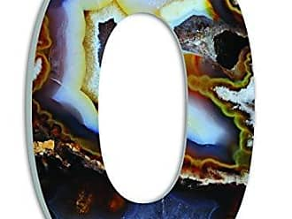 Stupell Industries Stupell Home Décor Amber and Blue Geode Slice O 18 Inch Oversized Hanging Initial, 12 x 0.5 x 18, Proudly Made in USA