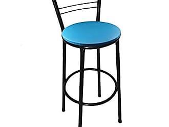 Itagold Banqueta Flórida Tubo Preto com Assento Azul - Itagold