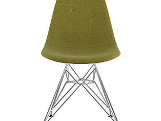 NyeKoncept 331002EM1 Mid Century Eiffel Side Chair, Avocado Green