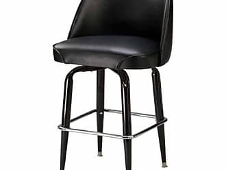 Regal Bucket Seat Classic 26 in. Square Base Black Metal Counter Stool