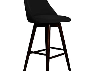 SOUTH CONE Santino 30 in. Upholstered Bar Stool with Swivel Espresso - SANTBS30/WAL/ESPRESSO
