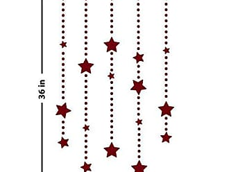 The Decal Guru Star Dangles Wall Decal (Burgundy, 36 (H) X 24 (W))