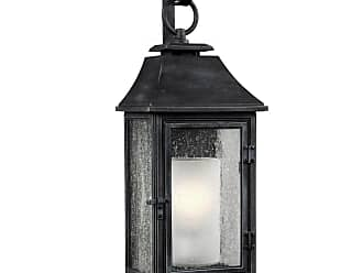 Feiss Shepherd 25.63 Outdoor Wall Sconce in Dark Weathered Zinc