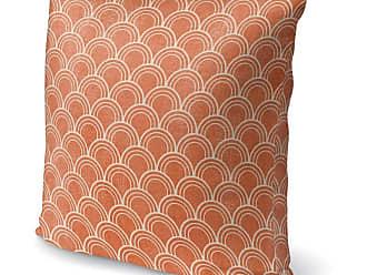 Kavka Designs Scale Pattern Accent Pillow Modena Orange - IDP-DI16-16X16-TEL1448
