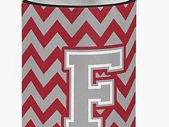 Caroline's Treasures CJ1043-FCC Letter F Chevron Crimson and Grey Can or Bottle Hugger, Multicolor
