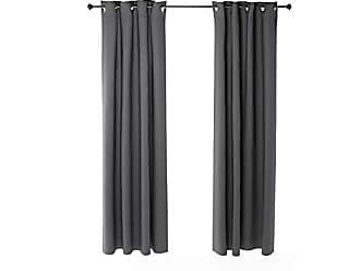 Furinno 2-FC66004DGY Collins Curtain 52x84 inches Dark Grey