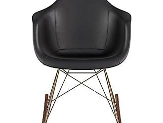 NyeKoncept 332009RO2 Mid Century Rocker Chair, Milano Black