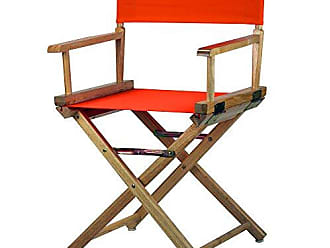 Yu Shan Casual Home 18 Directors Chair Natural Frame with Orange Canvas