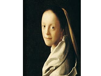 ArtWall Johannes Vermeer Portrait of a Young Woman Gallery Wrapped Canvas Artwork, 26 by 32-Inch