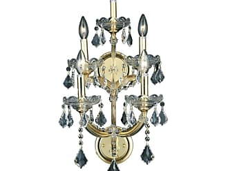 Elegant Lighting 2800W5G Maria Theresa 5-Light 25 Crystal Wall
