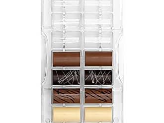 Decora 0050147 Moule professionnel Chocolat Tablette classique 100 g 3 cavit/és 127 x 72 x H 11 mm Polycarbonate