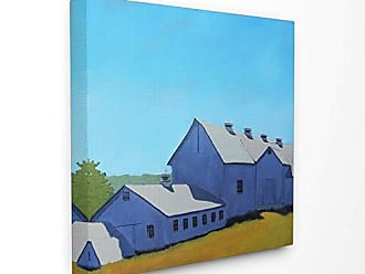 Stupell Industries The Stupell Home Decor Collection Colorful Luminous Painted Farm House Stretched Canvas Wall Art 17 x 17 Multicolor