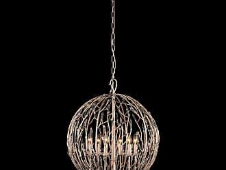 Varaluz Bask 24 6-Light Orb Pendant in Gold Dust