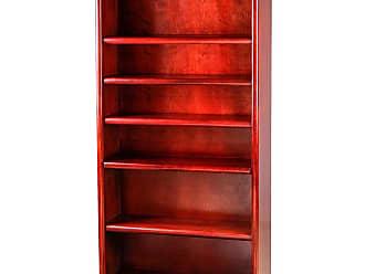 Forest Designs Bullnose Birch Bookcase with Adjustable Shelves Unfinished Alder, Size: 72 in. - B6124- BCH-72H-UA