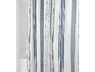 InterDesign Geometric Multi Stripe Fabric Shower Curtain 72 X