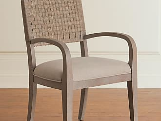 Hooker Furniture Pair of Mecate Woven-Back Dining Arm Chairs