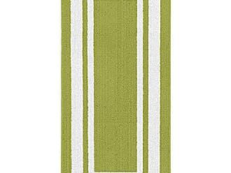 Garland Rug Borderline 24 x 60 Indoor/Outdoor Runner, Rectangle, Grasshopper Green/White