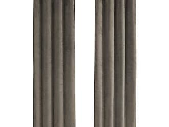Monarch Specialties I 9827 Curtain Panel Room Darkening, Velvet 95 H Taupe