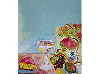 Betsy Drake GT104 Wine and Cheese Guest Towel